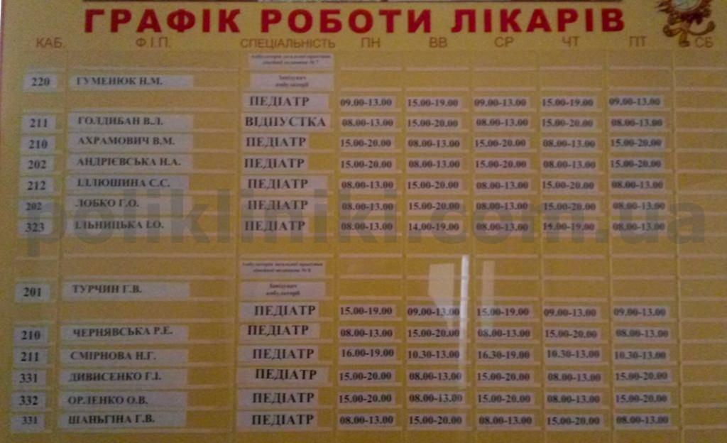 дитяча поликлініка Маяковського 18-а Київ