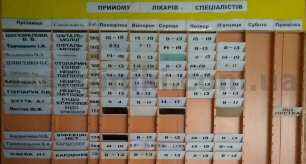 поліклініка пр.-т. Маяковського 32б деснянський район Києва