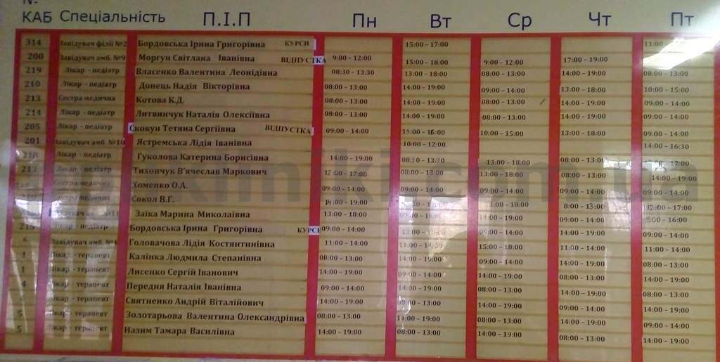 поліклініка вул. Симиренка 38 Святошинський район Київ