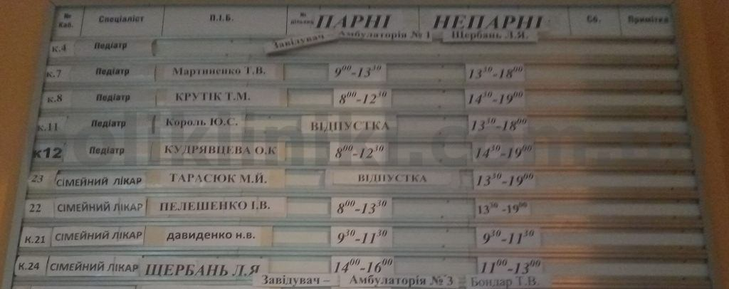 Дитяча поліклініка Корольова 11 1 Святошинський район Києва
