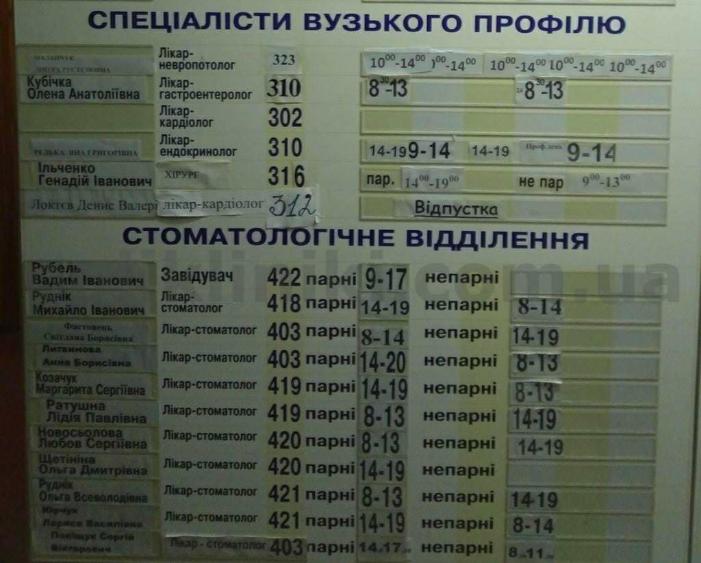 Поліклініка вул.Бориспільська 30а Дарницький район Києва