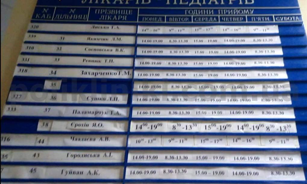 Поліклініка бул.Вигурський 4 Київ