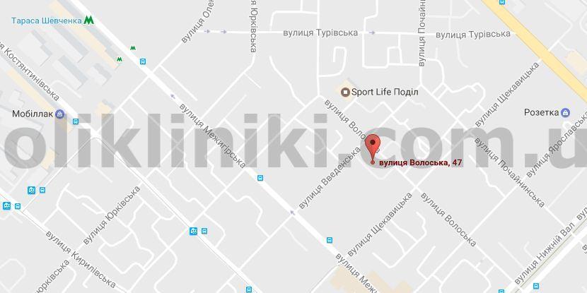 Мапа адреси приойму лікаря