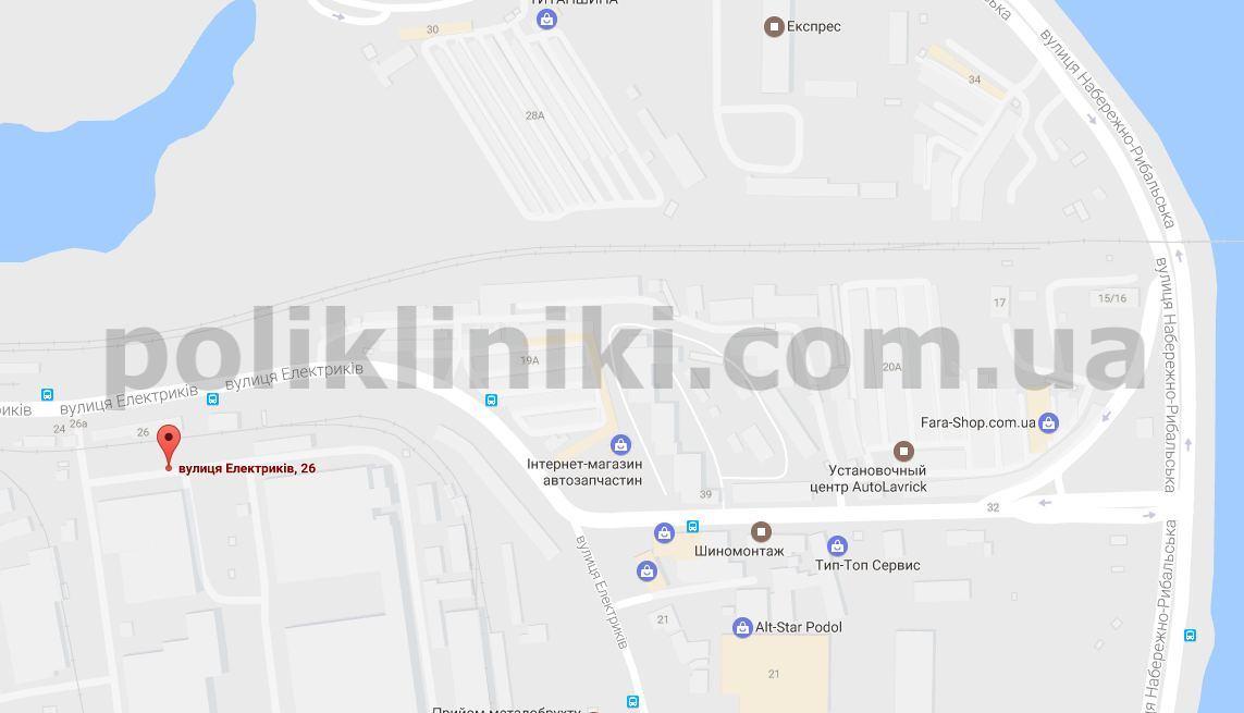 Амбулаторія загальної практики - сімейної медицини №3 на мапі гугла