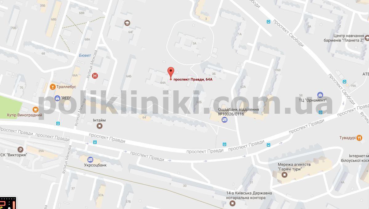 Мапа лікарні 9 — Філія 2