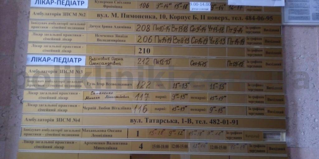 Поліклініка №2 Пимоненка 10 Шевченківського району Києва